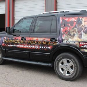 Vehicle Wraps! Why yes, I do design those! (First one designed for Shaolin Kenn